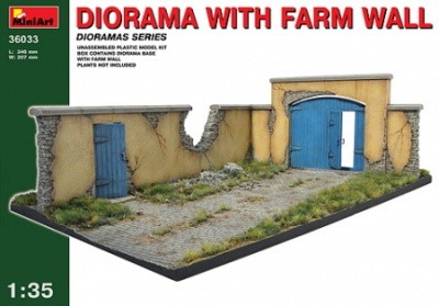 36033  DIORAMA WITH BARN