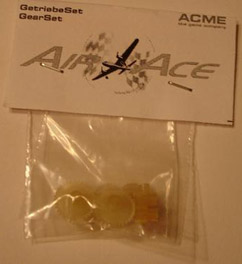 AIRACE Pack 4x Pinion gear and gear wheel (AA1135)