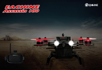 Eachine Assassin 180 FPV with Eachine VR-007 HD Goggles I6 Transmitter Built In OSD GPS NAZE32 RTF