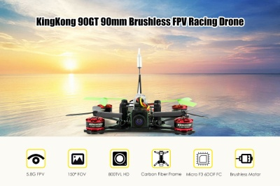 KingKong 90GT Brushless Micro 5.8Ghz FPV Drone Racer con ricevitore compatibile DSM2 / DSMX