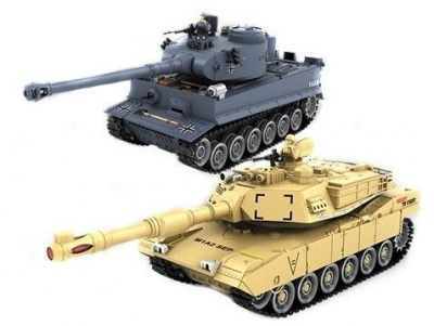 PK German Tiger and Abrams M1A2 1:28