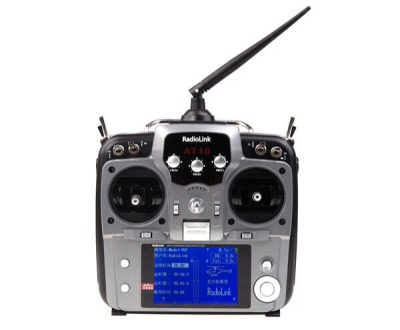 Trasmettitore 2.4Ghz RadioLink AT10 10CH con R10D 10CH ricevitore Gray